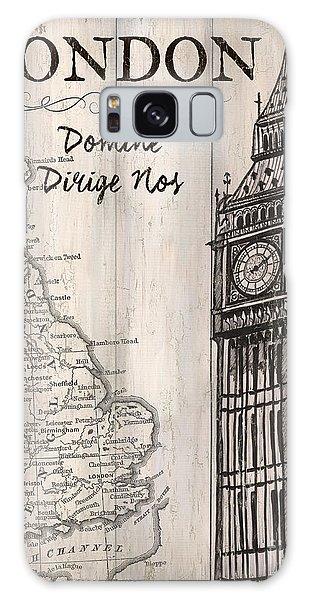 Vintage Camera Galaxy Case - Vintage Travel Poster London by Debbie DeWitt