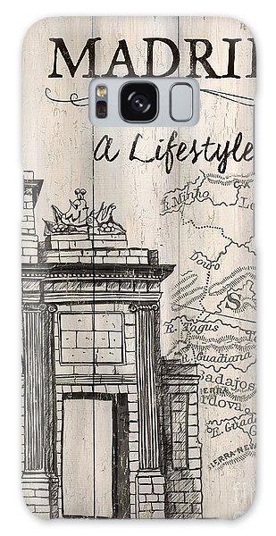Galaxy Case - Vintage Travel Poster Madrid by Debbie DeWitt
