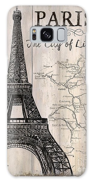 Vintage Camera Galaxy Case - Vintage Travel Poster Paris by Debbie DeWitt