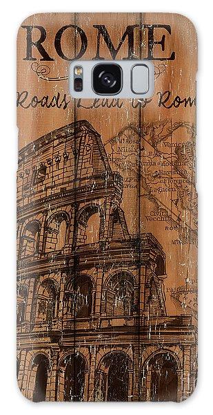 Galaxy Case - Vintage Travel Rome by Debbie DeWitt