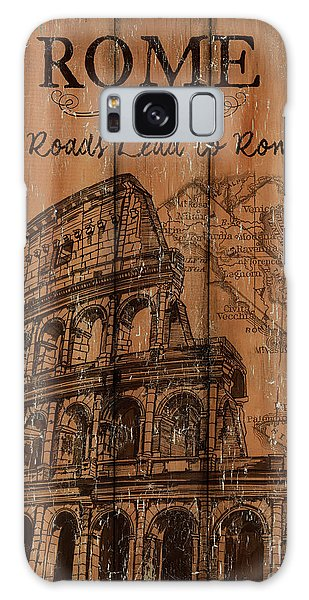 Attractions Galaxy Case - Vintage Travel Rome by Debbie DeWitt