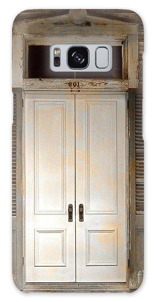 Vintage Tropical Weathered Key West Florida Doorway Galaxy Case by John Stephens