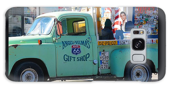 Vintage Truck With Elvis On Historic Route 66 Galaxy Case
