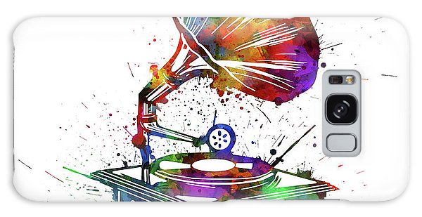 Sixties Galaxy Case - Vintage Turntable Watercolor by Bekim M