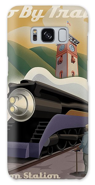 Vintage Union Station Train Poster Galaxy Case