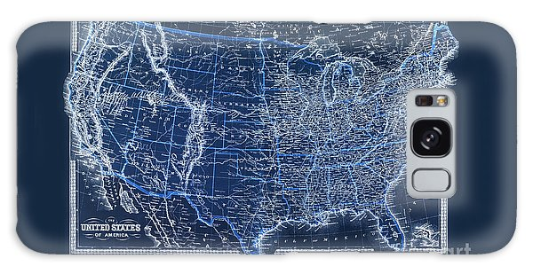 Usa Map Galaxy Case - Vintage Us Map From 1880 by Delphimages Photo Creations
