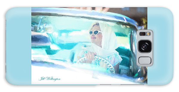 Vintage Val In The Turquoise Vintage Car Galaxy Case