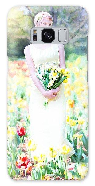 Vintage Val Spring Tulips Galaxy Case