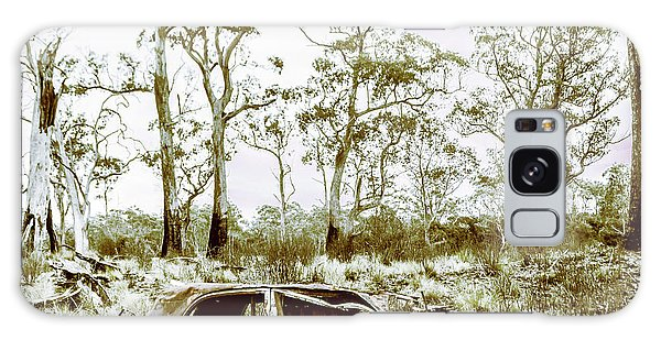 Old Car Galaxy Case - Vintage Winter Car Wreck by Jorgo Photography - Wall Art Gallery