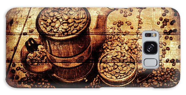 Cafe Galaxy Case - Vintage Wooden Coffee Shop Sign by Jorgo Photography - Wall Art Gallery