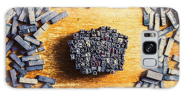 Language Galaxy Case - Vintage Writers Block by Jorgo Photography - Wall Art Gallery
