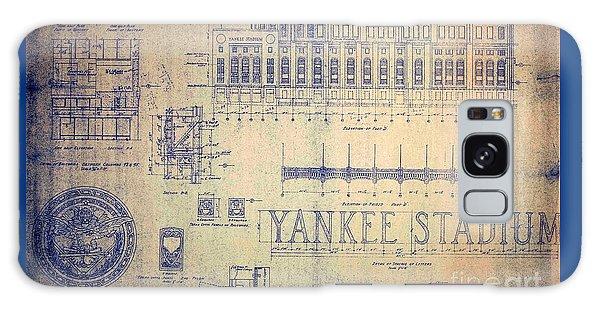 Vintage Yankee Stadium Blueprint Galaxy Case