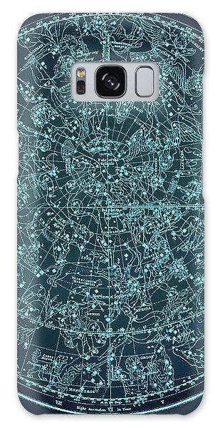 Vintage Zodiac Map - Teal Blue Galaxy Case