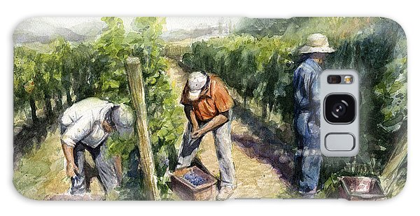 Farmland Galaxy Case - Vineyard Watercolor by Olga Shvartsur
