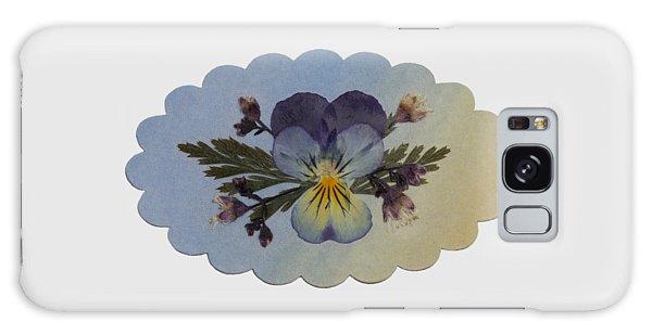 Viola Pressed Flower Arrangement Galaxy Case