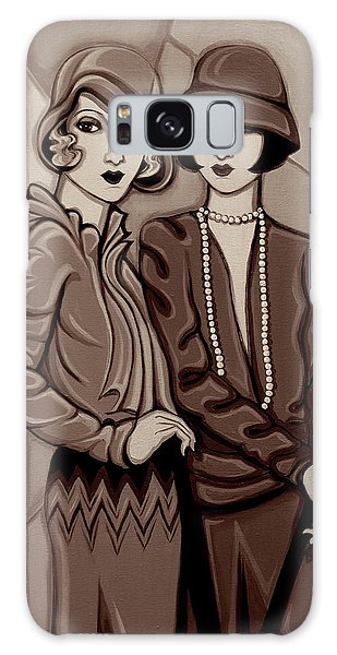 Violet And Rose In Sepia Tone Galaxy Case by Tara Hutton