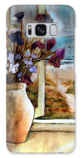 Violet Beach Flowers Galaxy Case by Winsome Gunning