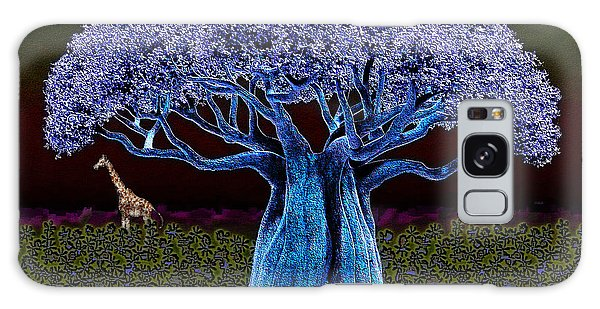 Violet Blue Baobab Galaxy Case