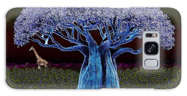 Violet Blue Baobab Galaxy Case by Iowan Stone-Flowers