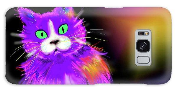 Violet Dizzycat Galaxy Case by DC Langer