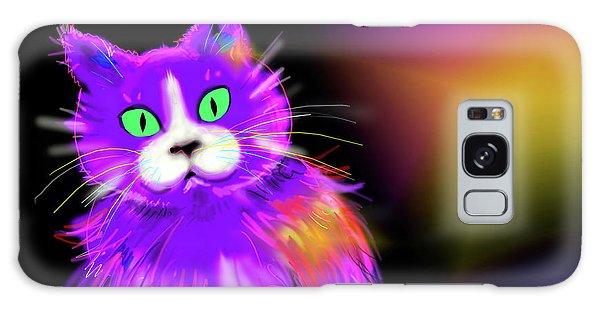 Violet Dizzycat Galaxy Case
