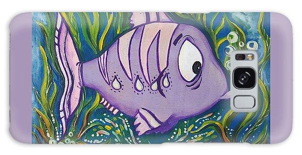 Violet Fish Galaxy Case by Rita Fetisov