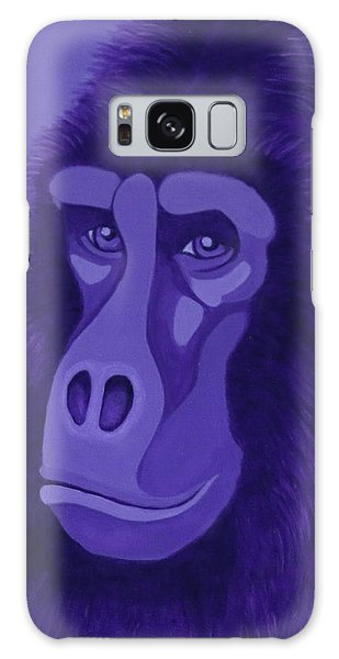 Violet Gorilla Galaxy Case