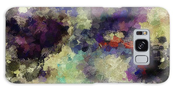 Violet Landscape Painting Galaxy Case by Ayse Deniz