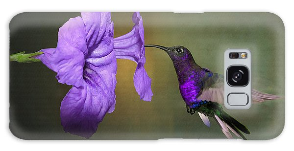 Violet Sabrewing Hummingbird Galaxy Case