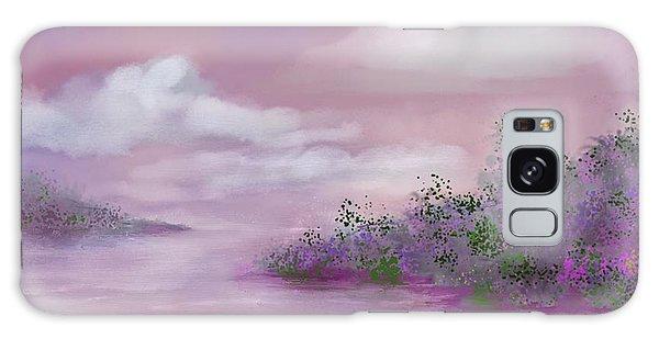 Violet Sunset Galaxy Case by Judy Filarecki