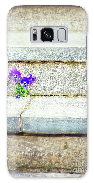 Galaxy Case featuring the photograph Violets    by Silvia Ganora