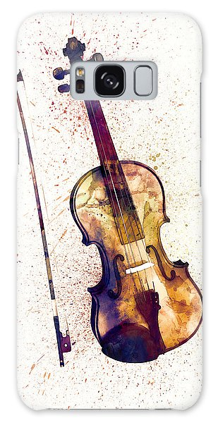 Violin Galaxy S8 Case - Violin Abstract Watercolor by Michael Tompsett