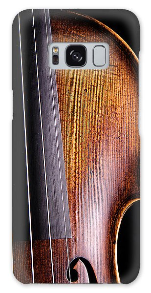 Violin Isolated On Black Galaxy Case