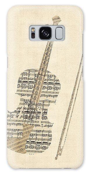 Violin Galaxy Case - Violin Old Sheet Music by Michael Tompsett