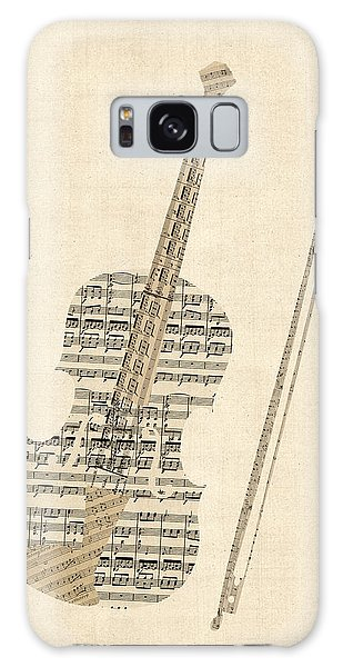 Musical Galaxy Case - Violin Old Sheet Music by Michael Tompsett