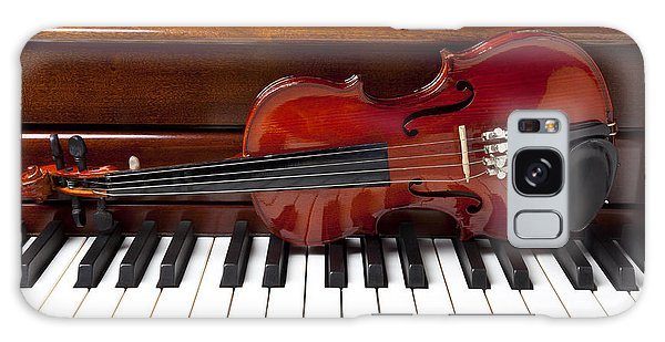Violin On Piano Galaxy Case