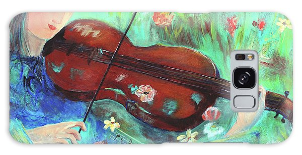 Violinist In Garden Galaxy Case
