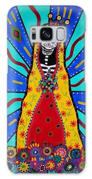 Virgen Guadalupe Dia De Los Muertos Galaxy Case