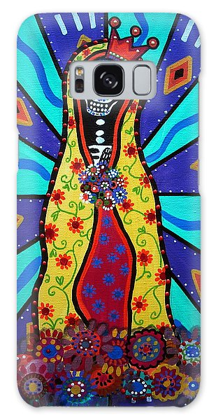 Virgin Guadalupe Day Of The Dead Galaxy Case by Pristine Cartera Turkus