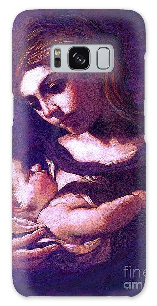 Virgin Mary And Baby Jesus, The Greatest Gift Galaxy Case by Jane Small
