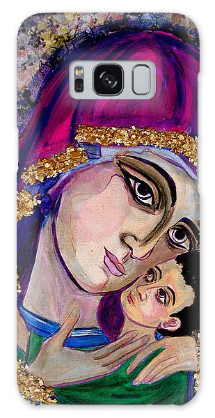 Virgin Mary In Purple Galaxy Case