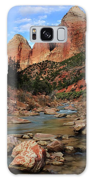 Virgin River In Zion Canyon Galaxy Case