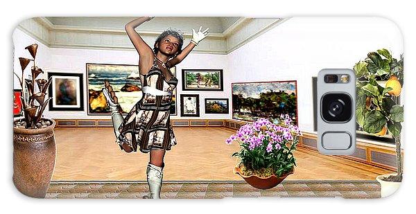 Virtual Exhibition - A Girl With A Pairro Dress Galaxy Case by Danail Tsonev