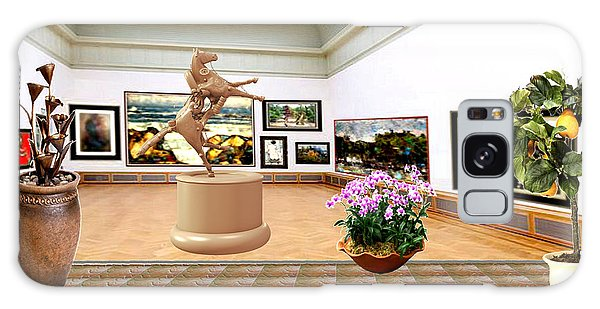 Virtual Exhibition - A Modern Horse Statue Galaxy Case by Pemaro