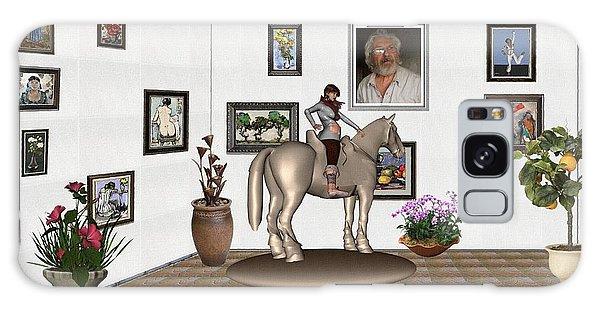 Virtual Exhibition Horsewoman 13 Galaxy Case by Pemaro