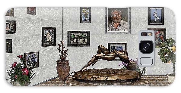 Virtual Exhibition -statue Of Girl Galaxy Case by Pemaro