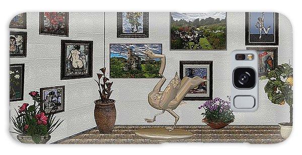 virtual exhibition_Statue of swan 23 Galaxy Case by Pemaro