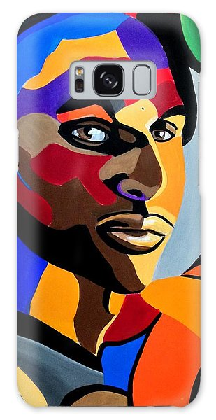 Visionaire, Abstract Male Face Portrait Painting - Illusion Abstract Artwork - Chromatic Galaxy Case