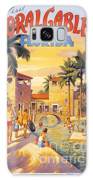 Visit Coral Gables-florida Galaxy Case