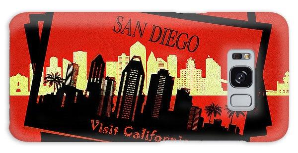 Traveler Galaxy Case - Visit San Diego California Postcard by Dan Sproul